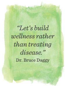 build wellness not fighting disease